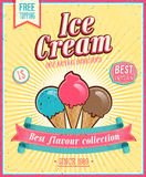 Affiche de crème glacée de vintage. Photos stock