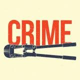 Affiche de crime Image stock