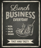 Affiche de déjeuner d'affaires illustration libre de droits