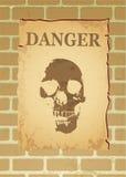 Affiche de danger illustration stock