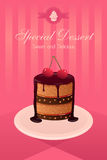 Affiche de dessert Photo stock