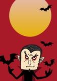 Affiche de Dracula pour Halloween illustration stock
