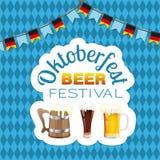 Affiche de festival de bière d'Oktoberfest Photos libres de droits