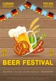 Affiche de festival de bière d'Oktoberfest Photo stock