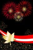 affiche de feux d'artifice du Canada Images libres de droits