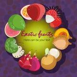 Affiche de fruit Image stock