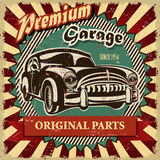 Affiche de garage de vintage rétro Photo libre de droits