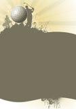 Affiche de golf Photo stock