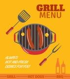 Affiche de gril de BBQ illustration de vecteur