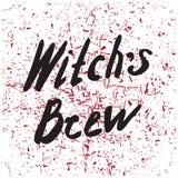 Affiche de Halloween avec le texte illustration stock