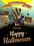 Affiche de Halloween pour des vacances ENV 10 Images libres de droits
