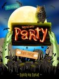 Affiche de Halloween pour des vacances ENV 10 Photos stock