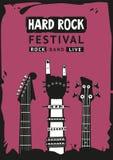 Affiche de hard rock Photographie stock