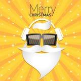 Affiche de hippie de Noël pour la partie ou la carte Images stock