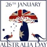 Affiche de jour d'Australie illustration stock