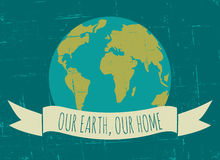 Affiche de jour de terre Photo stock
