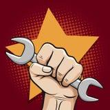Affiche de jour de travail Images libres de droits