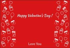 Affiche de jour du ` s de Valentine Photos stock