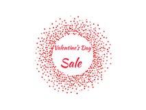 Affiche de jour du ` s de Valentine Images libres de droits