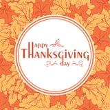 Affiche de jour de thanksgiving avec des feuilles d'automne Images stock
