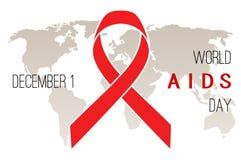 Affiche de Journée mondiale contre le SIDA Photographie stock libre de droits