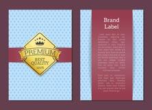 Affiche de l'offre 100 de qualité de la meilleure qualité de label de marque la meilleure illustration de vecteur