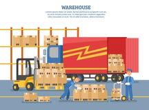 Affiche de la livraison de logistique illustration stock