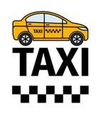 Affiche de la publicité de transport de taxi illustration de vecteur