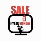 Affiche de la publicité de vente de lundi de Cyber Photos libres de droits