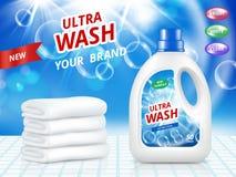 Affiche de la publicité des services de nettoyage Calibre réaliste de conception de vecteur illustration stock