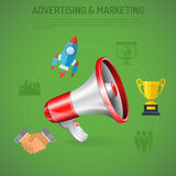 Affiche de la publicité et de vente d'affaires Image stock