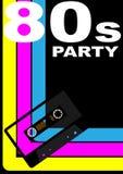 affiche de la réception 80s Photographie stock