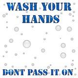Affiche de lavage de main Photographie stock