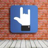 Affiche de main de roche Photographie stock libre de droits
