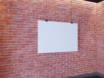 Affiche de maquette dans l'intérieur de style d'art déco 3d rendent Mur de briques Illustration images stock