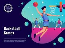 Affiche de matchs de basket Image libre de droits
