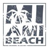 Affiche de Miami Beach Photo libre de droits
