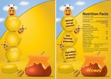 Affiche de miel Photographie stock