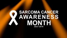Affiche de mois de conscience de cancer de sarcome en juillet, carte, et campagne de bannière illustration de vecteur