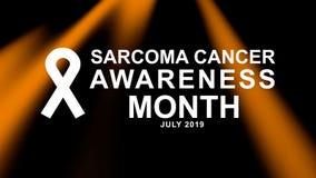 Affiche de mois de conscience de cancer de sarcome en juillet, carte, et campagne de bannière illustration stock