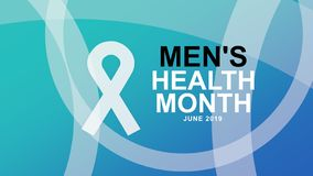 Affiche de mois de la santé des hommes et campagne de bannière - illustration de conception illustration de vecteur