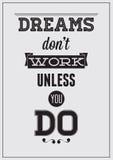 Affiche de motivation Photographie stock