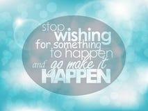 Affiche de motivation Images stock
