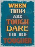 Affiche de motivation de citation de rétro vintage Illustration de vecteur illustration libre de droits
