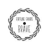 Affiche de motivation pour l'accomplissement des objectifs La fortune favorise l'audacieux Vecteur illustration stock