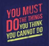 Affiche de motivation de vecteur Image stock