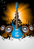 Affiche de musique Photo stock