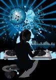 Affiche de musique. Image stock