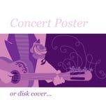 Affiche de musique Photographie stock