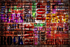 Affiche de musique rock photographie stock